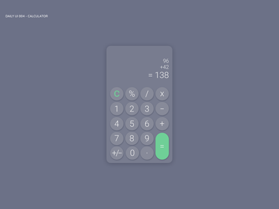 Daily UI - Calculator daily ui 004 daily challange daily ui challange calculator design app ui ux dailyui daily 100 daily 100 challenge