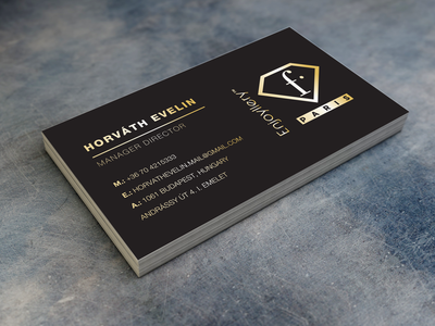 Business card - FTV branding logo typography design vector makeup fashion brand business agency busines card business