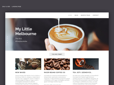 Daily UI - Landing page coffee bar coffee branding design vector web typography dailyui logo ux daily 100 challenge daily 100 ui