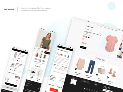 H&M web shop and application redesign redesign concept redesign hm website app logo ux typography web ui branding vector design