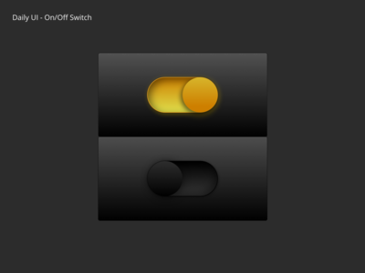On/Off switch Daily UI
