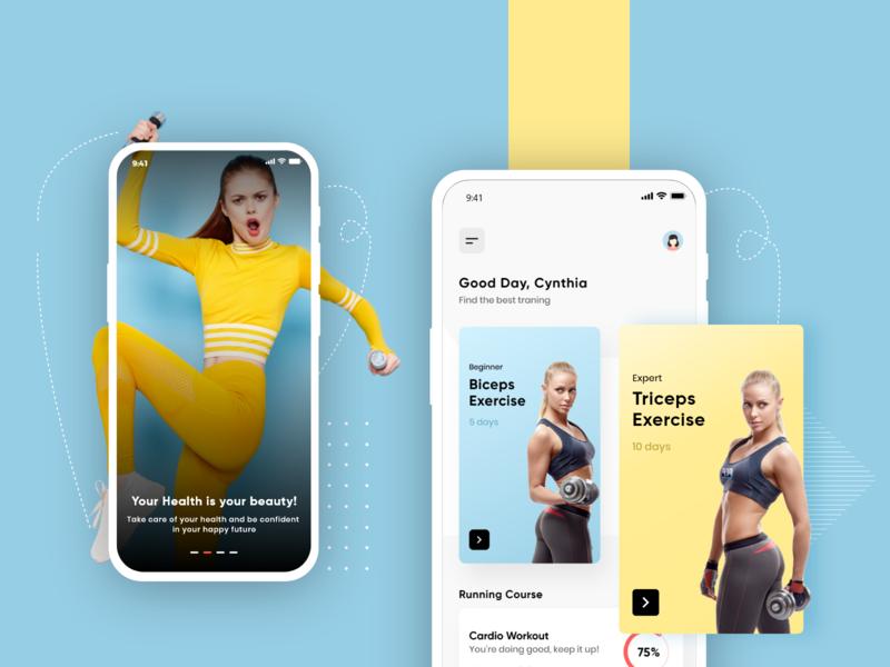 Fitness App UI Concept