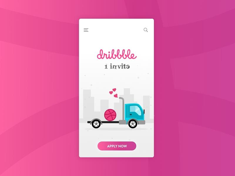 Dribble Invite ios web typography branding mobile ui app design icon designer design app uxdesign uidesign website portfolio graphic ux ui invite design app dribbble