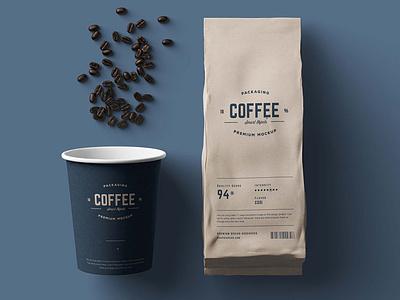 Coffee Package Mockup branding coffee cup mockup freebies