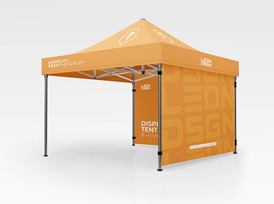 Display Tent Mockup Free PSD