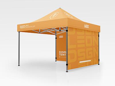 Display Tent Mockup Free PSD branding exibition tent mockup freebies