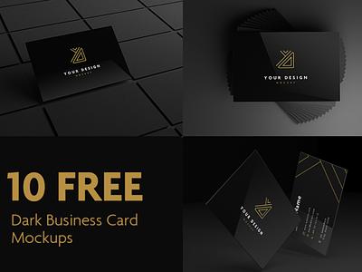10 Dark Business Card Mockups Free PSD business card mockup businesscard mockup freebies