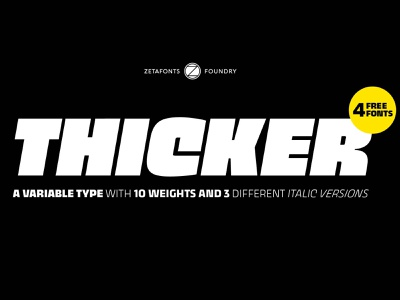 Thicker Font Sample free font font design font