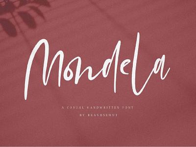 Mondela Handwritten Font Sample casual handwritten font design font freebies