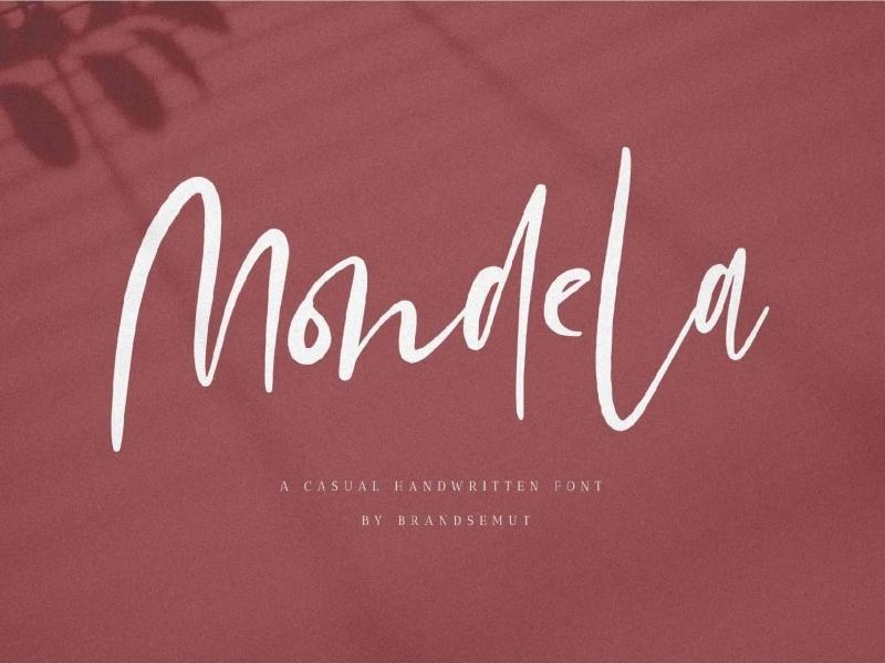 Mondela Handwritten Font Sample