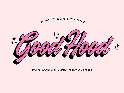 GoodHood Brush Script Font font design font freebies