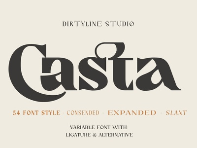 Casta – Display Sans Serif Font Sample freebies font design font