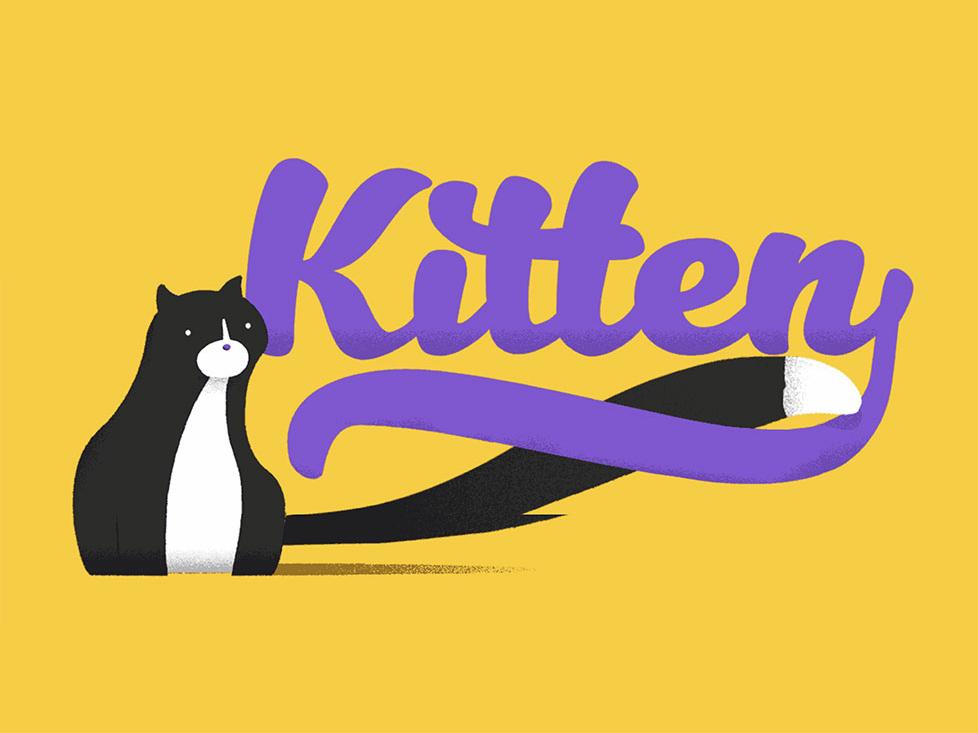 Free* Kitten Typeface Family handwriting cat typefaces font kitten