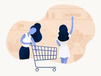 Free* Shopping Ilustration
