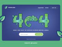 Chameleon 404 Page Illustration