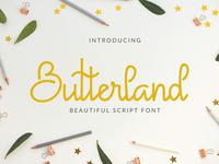 Free* Butterland Script Font