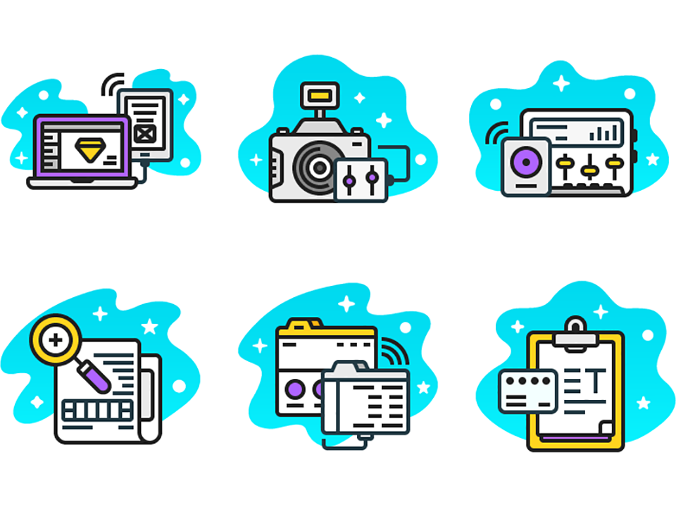 Free* What We Do Icons icon sets iconset freebies illustration icon