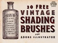 30 Vintage Shading Brushes