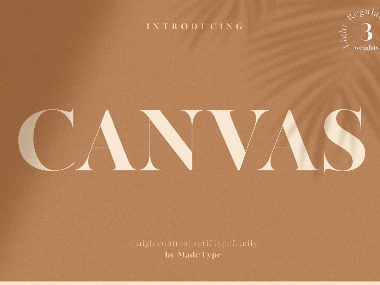 Free* Canvas Font font design font freebies