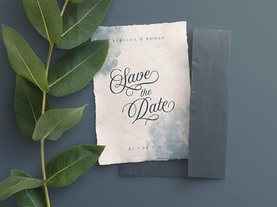 Free* PSD Mockup Wedding Invite with Envelope