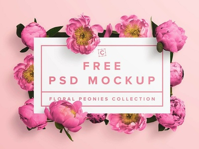 Free* Floral Peonies Collection Mockup mockup design freebies