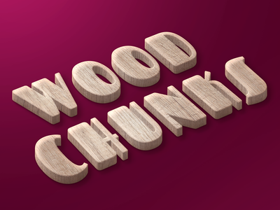 Wood Chunks Text Style freebies wood text effect