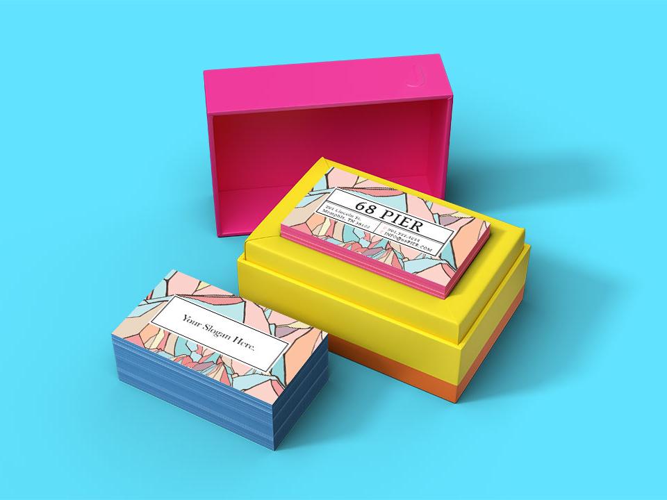 JukeBox Business Card Mockup bussiness card design mockup freebies