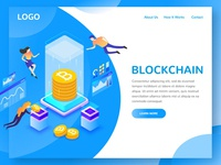 Blockchain Landing Page 2 in Illustration by Pencilio