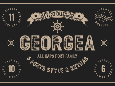 Georgea Typeface Free Font