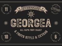 Georgea Typeface in Font by fanastudio