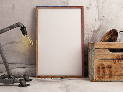 Frame Mockup With Lamp