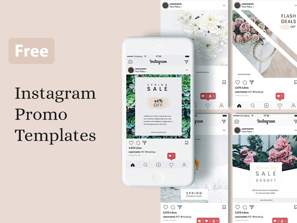 Instagram Promo Templates Free PSD promo instagram template freebies