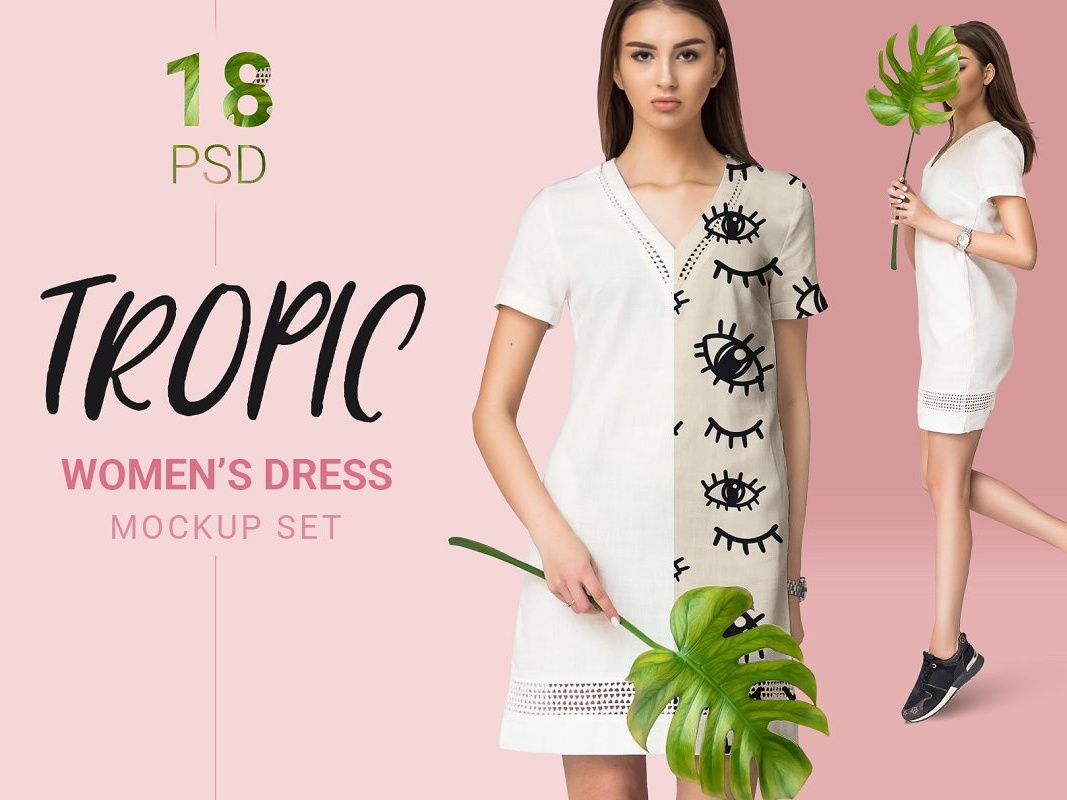 Female T-shirt Mockups Sample Free PSD