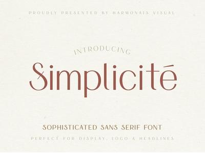 Simplicité – Simple & Elegant Font