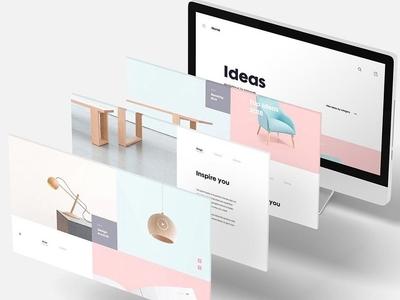 3D Web Screen Mockup