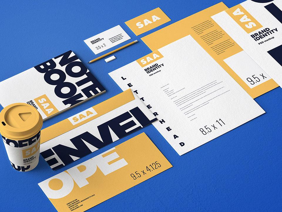 7 Stationery Mockup Set branding mockup design freebies