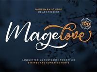 Magelove Font Sample