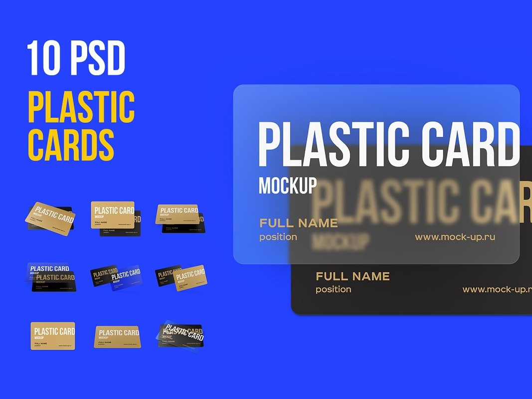 Plastic Card Mockup Sample mockup business cards business card freebies plastic card