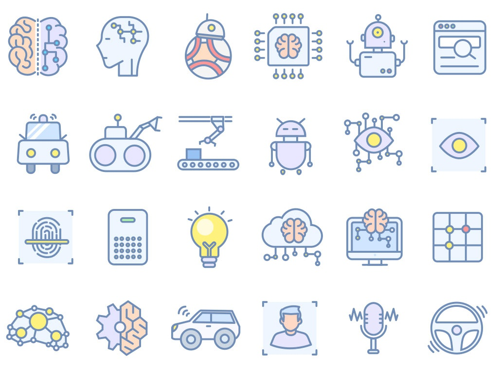 Robotic Icon Set freebies icon