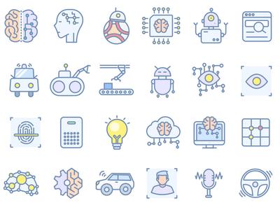Robotic Icon Set