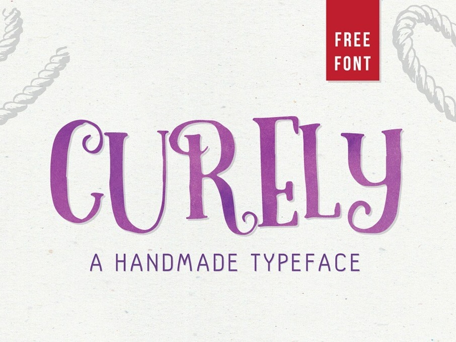 Curely – Handmade Font Sample font freebies