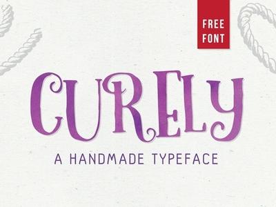 Curely – Handmade Font Sample