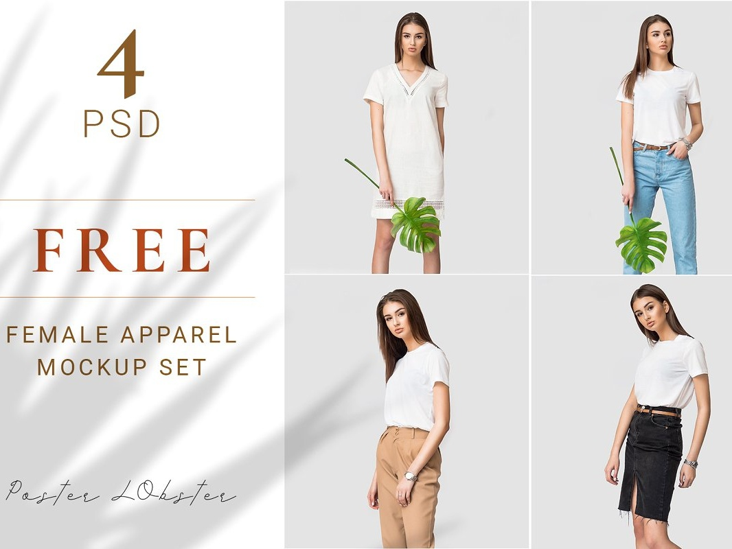 Free Female Apparel Mockups mockups apparel female freebies