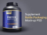 Supplement bottle package mockup