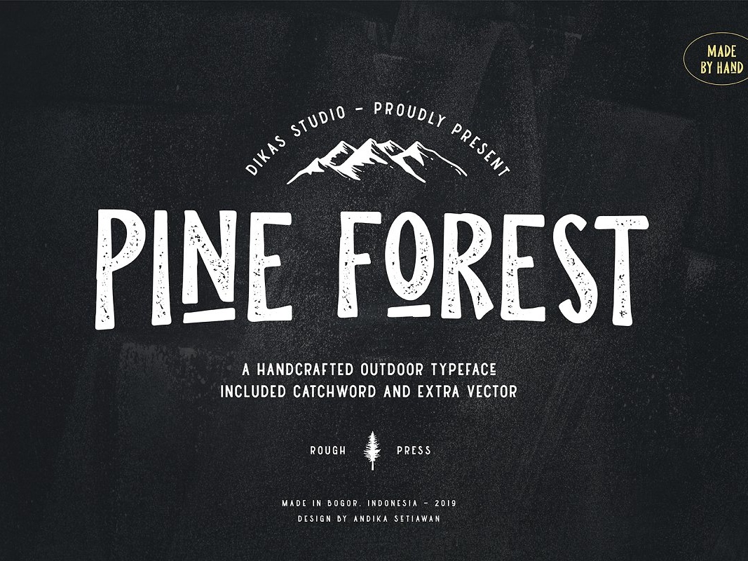 Pine Forest – Outdoor Typeface Free Sample