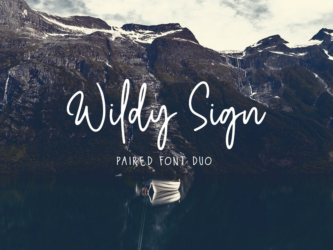 Wildy Sign Signature Font Free Sample Font font design font freebies