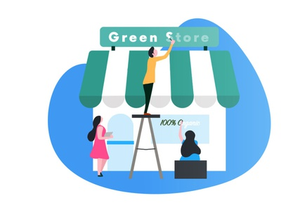 Green Store Ilustration