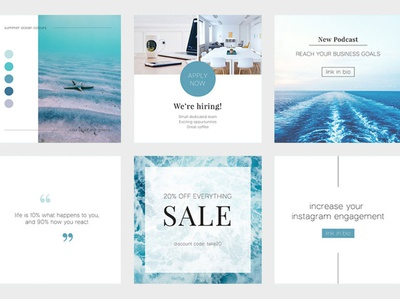 Blue Ocean Instagram Templates