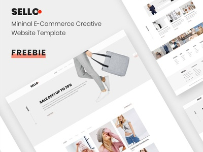Sello – Minimal E-Commerce Website Template XD