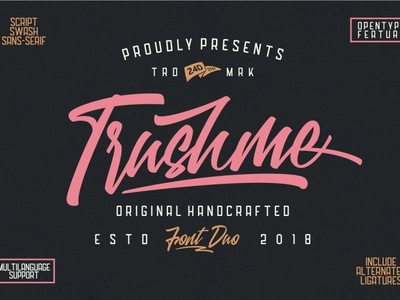 Trushme Font Duo Free Sample